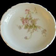 PH Leonard, Vienna, Austria, Porcelain Set of 10 Individual Butter Pats w/Pink & White Rose ..