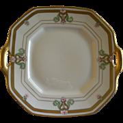 "Pickard Studio Hand Painted Serving Plate ""Russian Flowers"" Series Floral Motif"