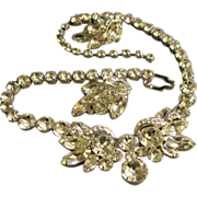 SALE Eisenberg Ice Demi-Parure - Diamond Rhinestone Necklace & Earrings