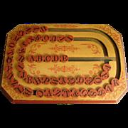 SOLD 1886 Wooden School ABC Alphabet Spelling Board