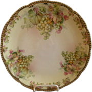 Prussia - Royal Rudolstadt Charger Plate w/White Grapes Motif