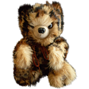 "SOLD Vintage Fur Teddy Bear by Helen Duggan ""Palm Beach Bears"" - Leopard Spotted Rab"