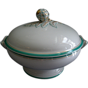 SOLD David Haviland & Co., Limoges Factory Decorated Covered Vegetable Tureen w/Artichoke Fini