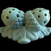 Van Briggle Pottery 'Double Acorn' Flower Frog - Turquoise Ming Glaze