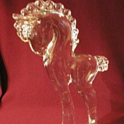 "Crystal Sculpture ""Tall Pony"" by Paden City"