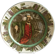 """Royal Doulton Transfer """"The Bookworm"""" Professional Series Ware Plate - Pattern D3089"""