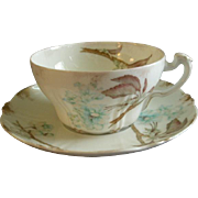 Set of 6 Theodore Haviland Cup & Saucer Sets - St Cloud Series w/Floral Motif - Schleiger #116