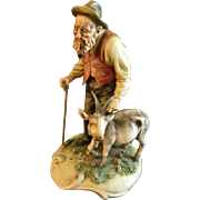 "Antonio Borsato ""Old Man With A Nanny Goat"" Figurine"