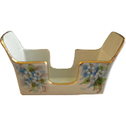 "Bavaria Porcelain Hand Painted ""Forget-Me-Not"" Pattern Demi-Tasse Spoon Holder"