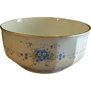 "Hutschenreuther Porcelain Hand Painted ""Forget-Me-Not"" Pattern Large Round Serving B"