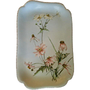 Charles Haviland & Co., Limoges Hand Painted Floral Ice Cream/Serving Platter, Circa 1880's, .