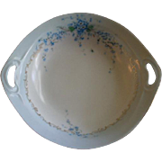 "Luken Studio Hand Painted ""Forget-Me-Not"" Pattern Candy/Nut Bowl"