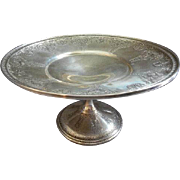 """Simpson, Hall, Miller & Co. Sterling Silver """"Persian"""" Pattern Tray on Standard"""