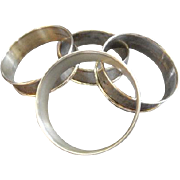 Set of 4 Gorham Sterling Silver Napkin Rings #6290 w/No Monograms