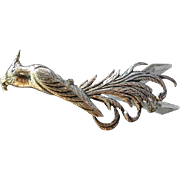 "Danecraft Sterling Silver Mid-Century ""Bird Of Paradise"" Brooch"