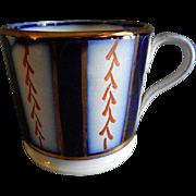 "Flow Blue 'Wagon Wheel"" Pattern Child's Mug"