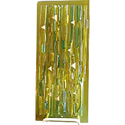 Higgins Glass 3-D Mid-Century Fused Glass Wall Plaque
