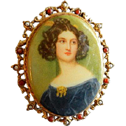 """Art"" or ""Art Mode"" Victorian-Style Portrait Brooch"