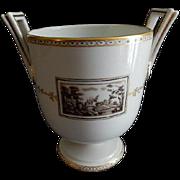 "Richard Ginori Porcelain ""Fiesole"" Pattern Handled Urn/Vase"