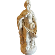 """Parian-Ware Statue """"Calliope -  Muse of Epic Poetry"""""""