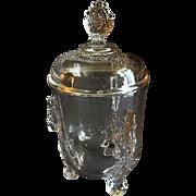 EAPG - Riverside Glass Works 'Grasshopper' Pattern Covered Sugar Bowl