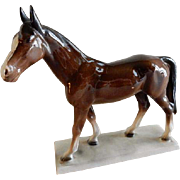 Katzhutte/Hertwig Porcelain Chocolate Brown Horse Figurine