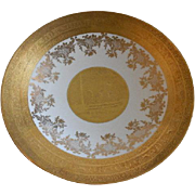 Gold Encrusted Bavaria Console Fruit Bowl w/Fairies, Mythological & Baroque Designs