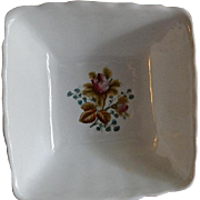"Alfred Meakin Ironstone China ""Moss Rose"" Pattern Square Serving Bowl"