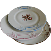 "Set of 3 - 1880's Charles Haviland & Co. Limoges ""Moss Rose"" Pattern Dinner/Serving"