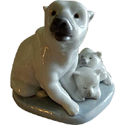 "Lladro ""Polar Bear Miniature"" Porcelain Sculpture #5434"