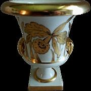 "J H Stouffer Hand Painted ""Golden Orchid"" Pattern Urn - Artist Otto Podlaha"