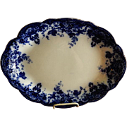 "Alfred Meakin Semi-Porcelain Flow Blue ""Richmond"" Pattern Platter"