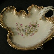 """Germany """"Floral Decor"""" Serving Dish with Handle"""