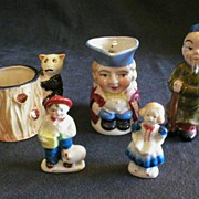 5 China Novelties marked 'Occupied Japan' or 'Japan'