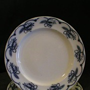 "Set of 3 -  Brown-Westhead, Moore & Co.- Ironstone Blue Transfer Dinner Plates ""Ceres"""