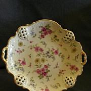 "Rosenthal ""Florida"" Pattern Round Pierced Cake Plate"