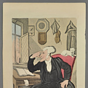 21 Original Rowlandson Hand Colored Aquatints from The Tours of Dr Syntax
