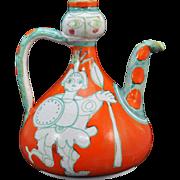 Desimone Art Pottery Greek Warrior Ewer Mid Century Modern Italy