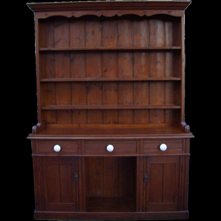 Vintage Furnitures: Antique Furniture Victorian Pine Dresser From