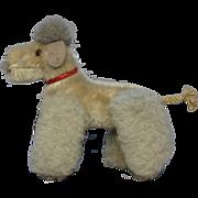 Steiff Vintage Toy Dog Poodle Plush Mohair