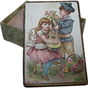 "SOLD Miniature Litho Cardboard Box 2"" by 3""Doll Accessory"