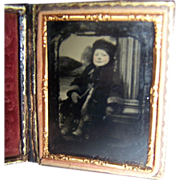 Ambrotype In Case Your Girl Child Fur Hat/Coat