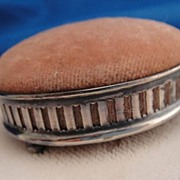Antique Sterling Silver Bun Footed Pin Cushion
