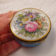 SOLD Antique Porcelain French Hand Painted Early 19th C Box