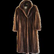 REDUCED Estate Soft Brown Canadian Mink Fur Coat Size M  Excellent