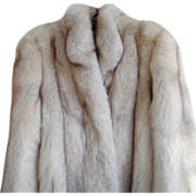 REDUCED Estate  Full Length Real Silver Fox Fur Coat Size S M  Minty