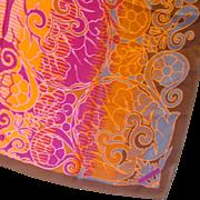 Stunning Signed Lanvin Paris France Silk Scarf