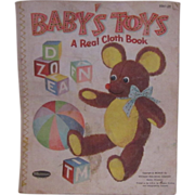 REDUCED Vintage 1959 Linen Baby Book