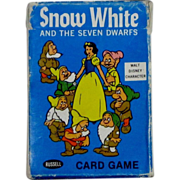 SOLD Vintage 1965 Disney Snow White and Seven Dwarfs Card Game
