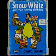 Vintage 1965 Disney Snow White and Seven Dwarfs Card Game